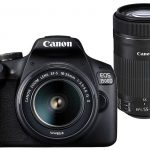 (Renewed) Canon EOS 1500D 24.1MP Digital SLR Camera (Black) with 18-55 and 55-250mm is II Lens, 16GB Card and Carry Case